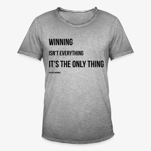 Football Victory Quotation - Men's Vintage T-Shirt
