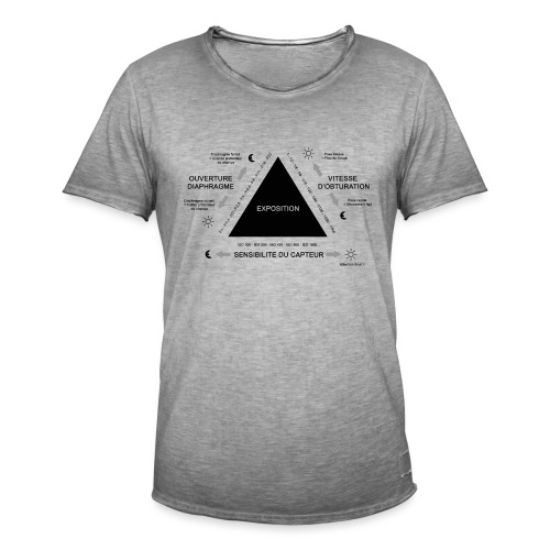 TRIANGLE D'EXPOSITION - T-shirt vintage Homme