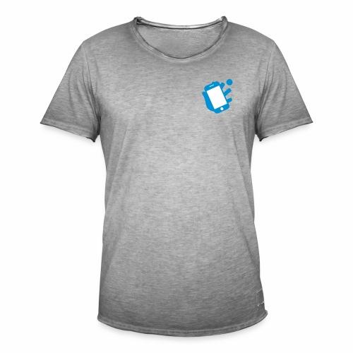 Smartphone-Tennis Logo Print - Männer Vintage T-Shirt
