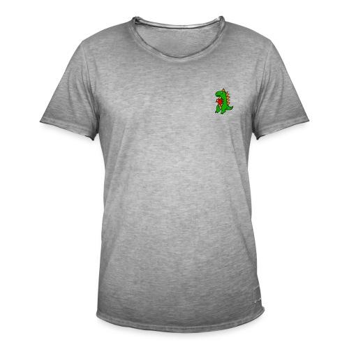 dino heart merch - Vintage-T-shirt herr