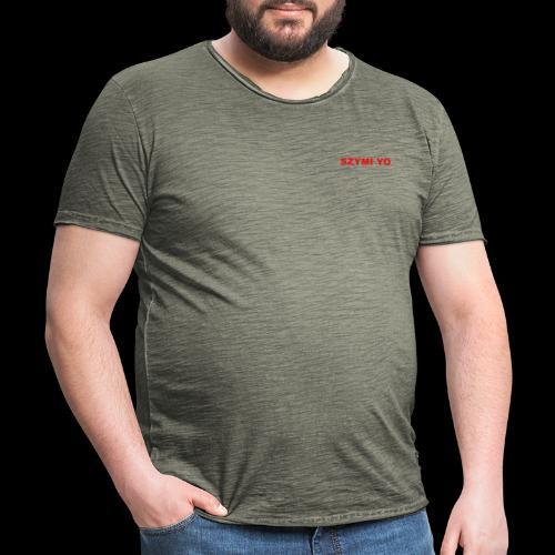 SZYMI YO LOGO - Koszulka męska vintage