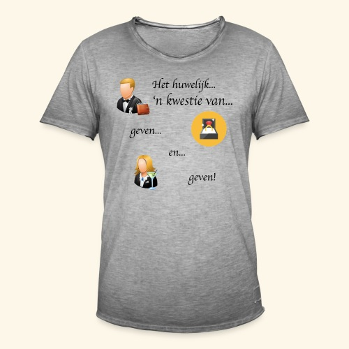 Het huwelijk... - Mannen Vintage T-shirt