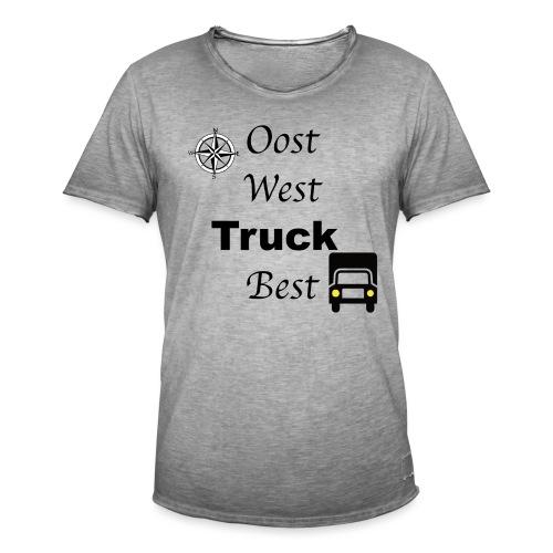 Oost West Truck Best - Mannen Vintage T-shirt