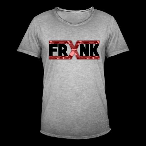 Red Camo 'FRXNK' Logo - Men's Vintage T-Shirt