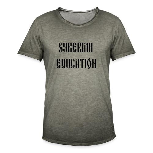 Russia Russland Syberian Education - Men's Vintage T-Shirt