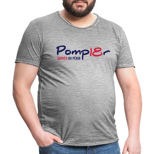 pomp18r 1a - T-shirt vintage Homme