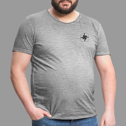 Quadrat - Männer Vintage T-Shirt