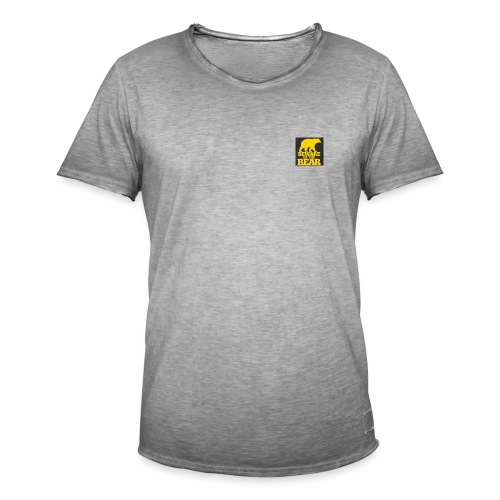 beware of the bear - Mannen Vintage T-shirt