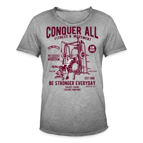 Conquer All2 - T-shirt vintage Homme