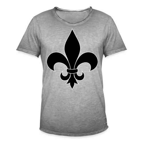 ranskan lilja - Miesten vintage t-paita