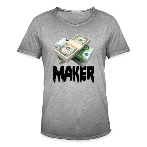 MONEYMAKERBLACK - Mannen Vintage T-shirt
