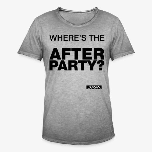 Afterparty - black - Men's Vintage T-Shirt
