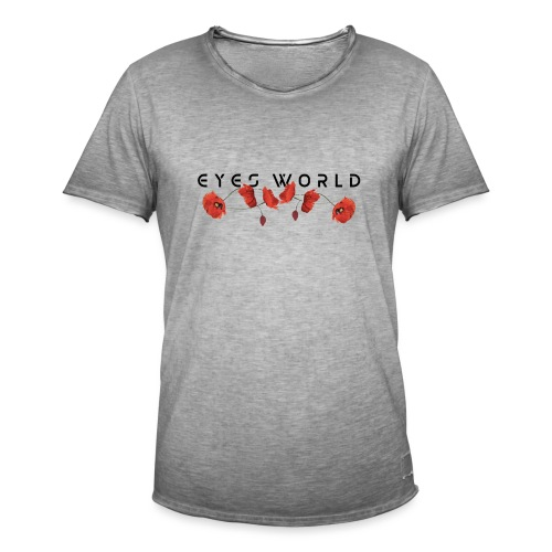 Eyes world flower - T-shirt vintage Homme