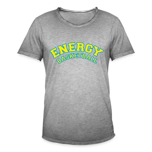 street wear logo giallo energy basketball - Maglietta vintage da uomo
