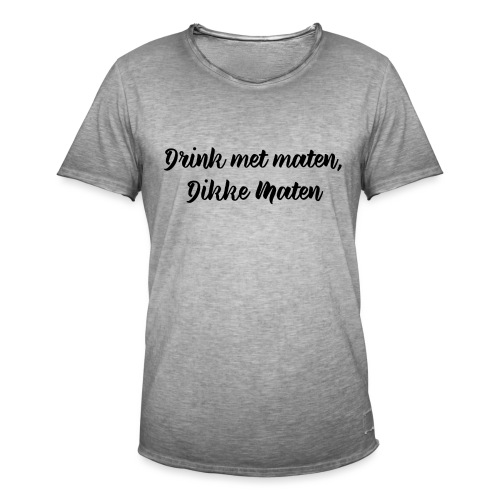 Drink met maten - Mannen Vintage T-shirt