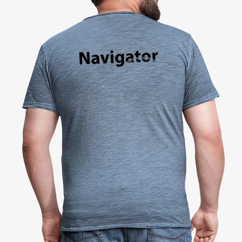 Navigator VIO combinatie zwart - Mannen Vintage T-shirt