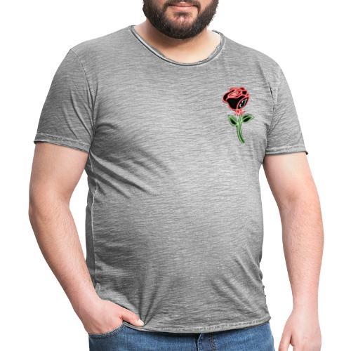 Rose - Männer Vintage T-Shirt