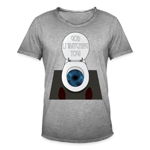 God is watching you! - Maglietta vintage da uomo
