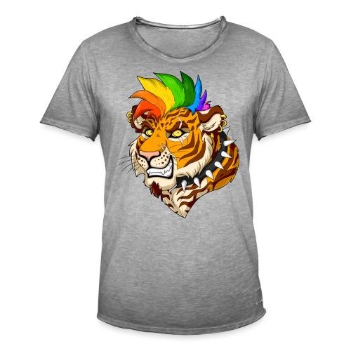 Punk Tiger - Koszulka męska vintage