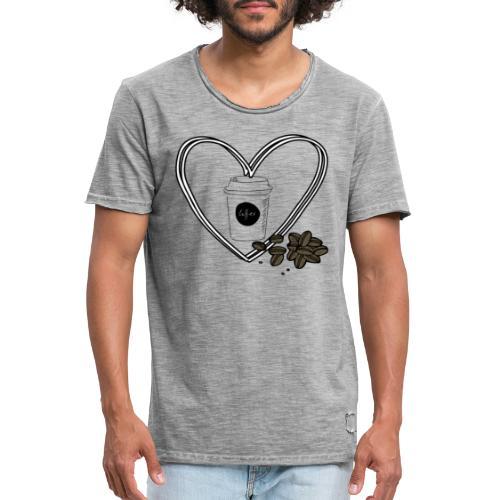I love Coffee - Männer Vintage T-Shirt