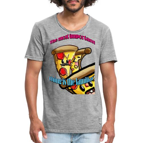 the most important thing is the familiar - Camiseta vintage hombre