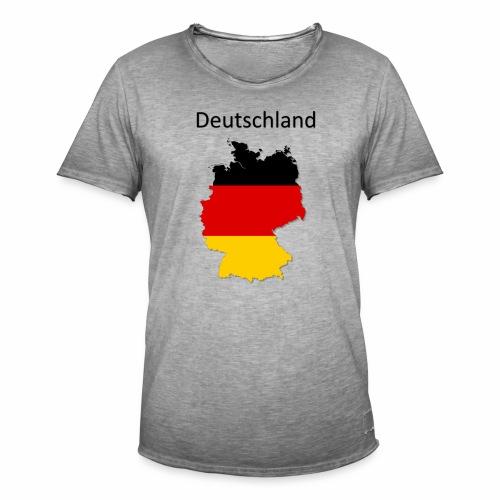 Deutschland Karte - Männer Vintage T-Shirt