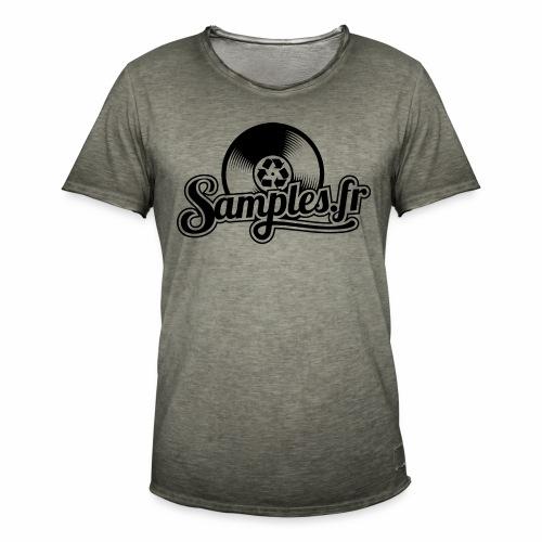 Gris / Noir (H / F) - T-shirt vintage Homme