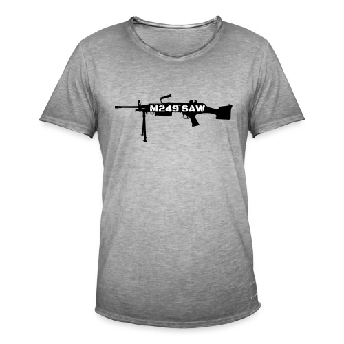 M249 SAW light machinegun design - Mannen Vintage T-shirt