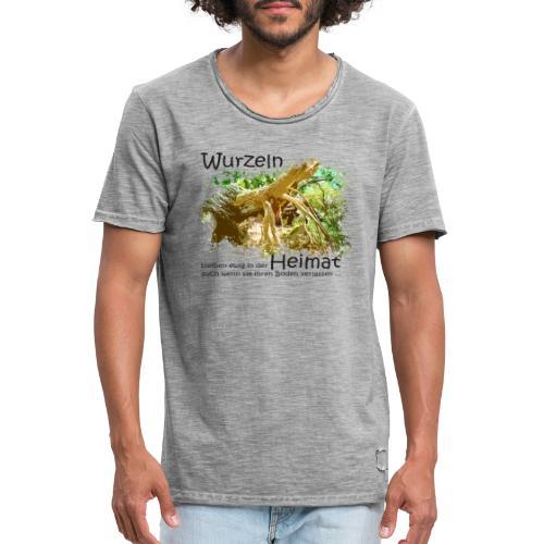Wurzeln bleiben - Männer Vintage T-Shirt