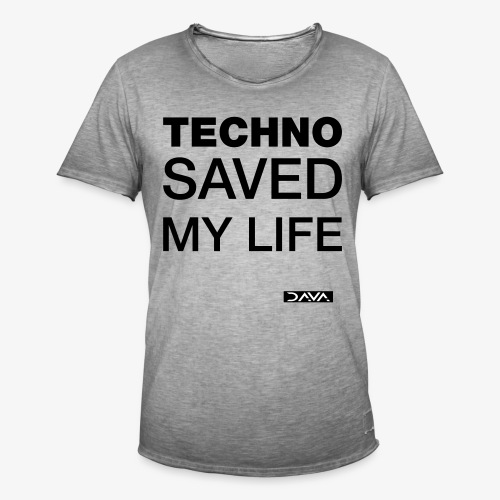 Techno Saves lives - black - Men's Vintage T-Shirt