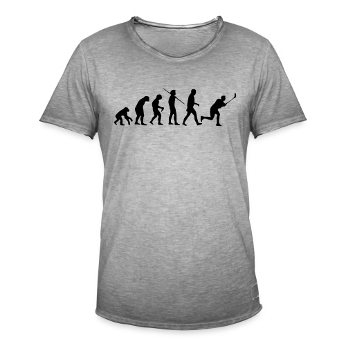 Floorball Evolution Black - Männer Vintage T-Shirt