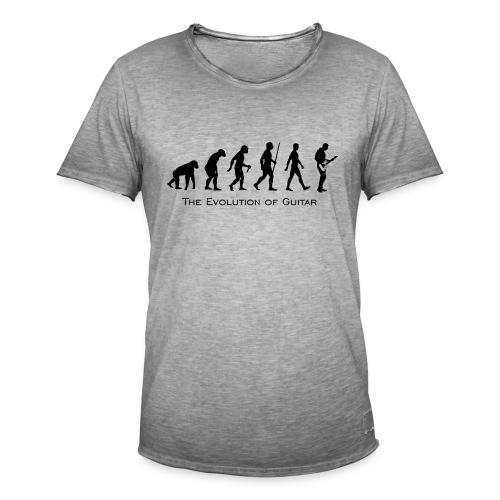 The Evolution Of Guitar - Camiseta vintage hombre