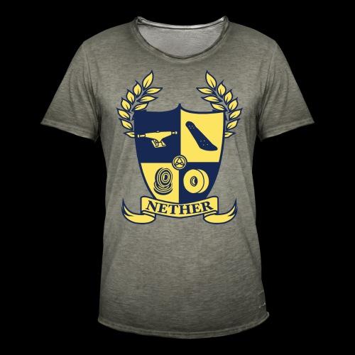 Nether College T-Shirt - Maglietta vintage da uomo