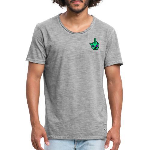 kleines Logo - Männer Vintage T-Shirt