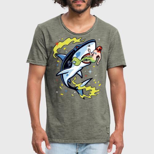 Requin mangeur de sirène - T-shirt vintage Homme