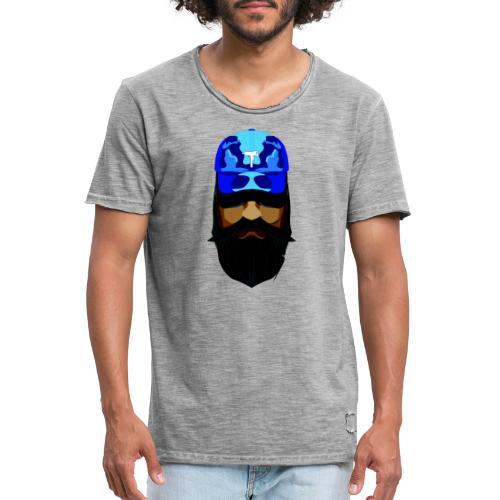 T-shirt gorra dadhat y boso estilo fresco - Camiseta vintage hombre