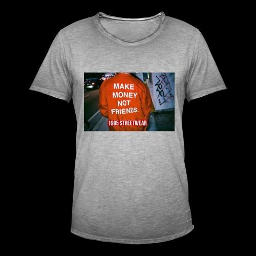 MAKE MONEY NOT FRIENDS - Maglietta vintage da uomo