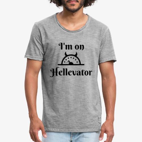 I'm on hellevator - T-shirt vintage Homme