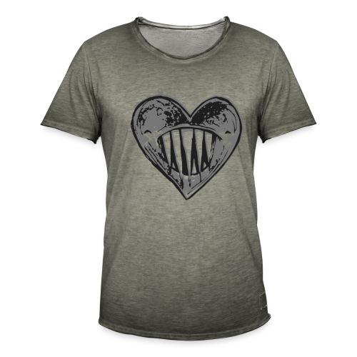 Corazón Negro - Camiseta vintage hombre