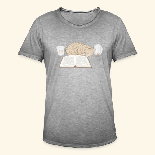 Cats'n'Books - Männer Vintage T-Shirt