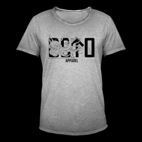 OctoApparel Logo schwarz - Männer Vintage T-Shirt