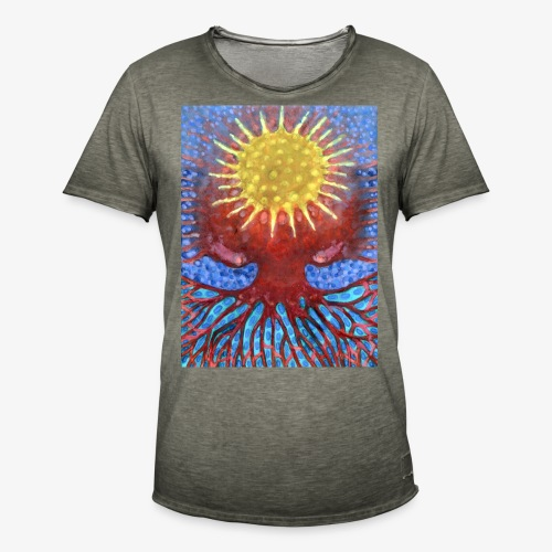Niebiańskie Drzewo - Koszulka męska vintage