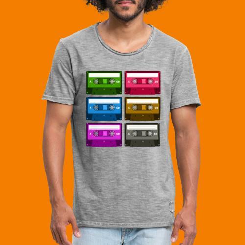 Kassetter - Vintage-T-shirt herr