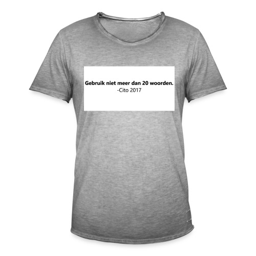 Gebruik niet meer dan 20 woorden - Mannen Vintage T-shirt