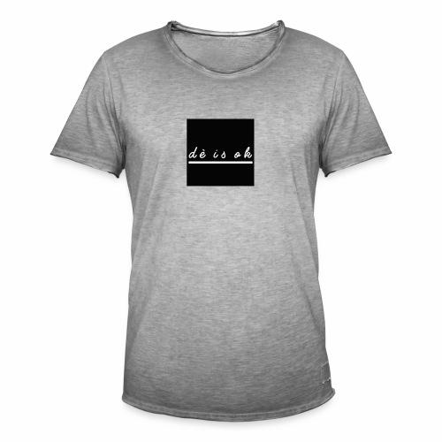 de is ok - Mannen Vintage T-shirt