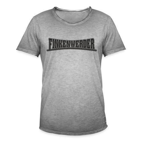 Finkenwerder schwarz - Männer Vintage T-Shirt