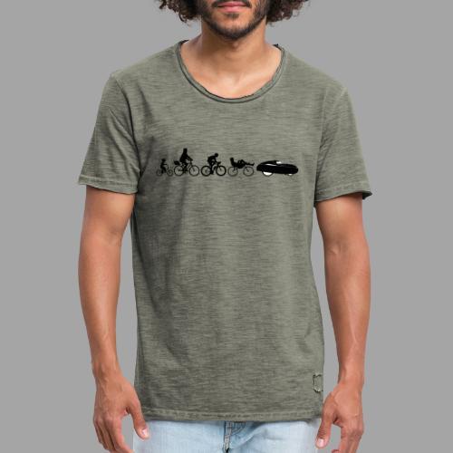 Bicycle evolution black - Miesten vintage t-paita