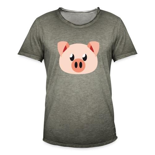 Schweinchen »Oink Oink« - Men's Vintage T-Shirt