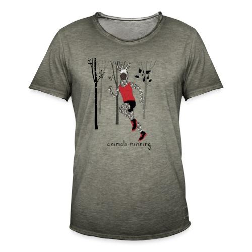 Zèbre running - T-shirt vintage Homme