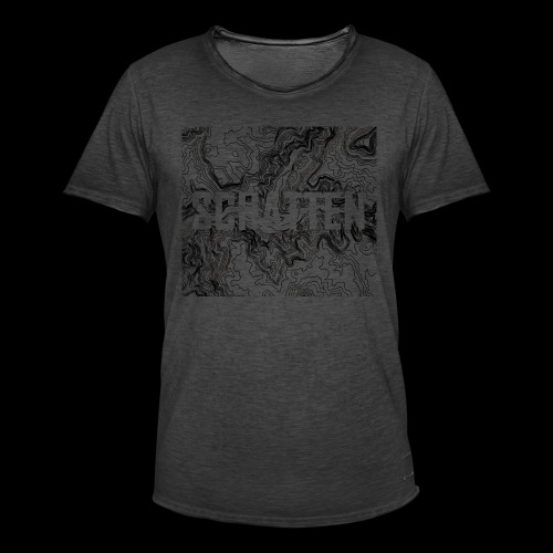 Hoehenlinien schwarz Schatten - Männer Vintage T-Shirt